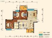 幸福东郡3室2厅2卫126平方米户型图