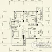 泰然南湖玫瑰湾3室2厅2卫122平方米户型图