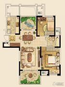 金东城世家2室1厅1卫94平方米户型图