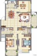 梧桐公馆3室2厅2卫115平方米户型图