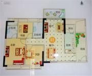越秀滨海御城3室2厅2卫105平方米户型图