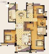 首开融侨・尚东区4室2厅2卫132平方米户型图