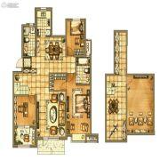 碧桂园银亿・大城印象3室2厅2卫140平方米户型图