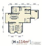 滨洲华府3室2厅2卫114平方米户型图