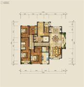 财富中心5室2厅2卫253平方米户型图