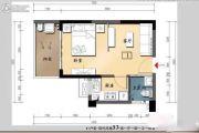 大同・南海馨居1室1厅1卫37平方米户型图