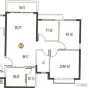 海陵岛恒大御景湾3室2厅1卫113平方米户型图