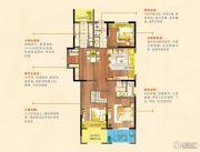 朗诗绿色街区3室2厅2卫124平方米户型图