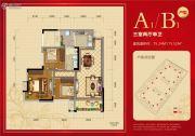 邦泰公馆3室2厅1卫75平方米户型图
