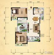 清江・月亮湾3室2厅1卫97平方米户型图