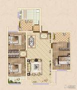 皓顺・华悦城3室2厅2卫109平方米户型图