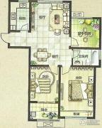 绿都万和城2室2厅1卫94平方米户型图