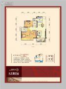 龙光普罗旺斯2室2厅2卫89平方米户型图