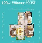 碧桂园・公园壹号3室2厅2卫120平方米户型图