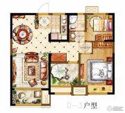 金科世界城3室2厅1卫95平方米户型图