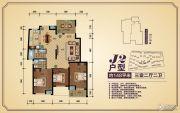香樟源3室2厅2卫148平方米户型图