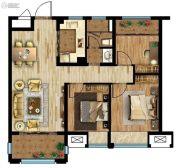 联发星领地3室2厅1卫88平方米户型图