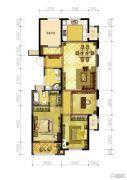 信达香格里4室2厅2卫129平方米户型图