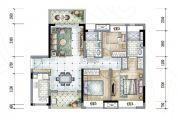 保利香槟国际3室2厅2卫100平方米户型图