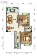 荣华山庄二期温情港湾2室2厅1卫85平方米户型图