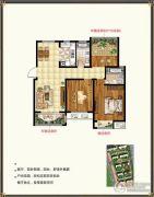 锡北新街口3室2厅2卫110平方米户型图
