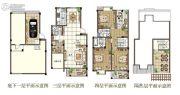 观山名筑3室2厅3卫168平方米户型图