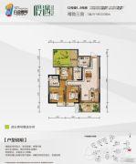 白金壹号3室2厅2卫80--100平方米户型图
