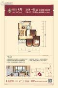 昆明・恒大名都3室2厅1卫1--102平方米户型图