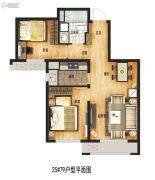 万科城2室2厅1卫79平方米户型图