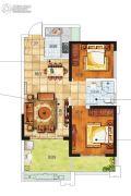 南海幸福汇1室2厅1卫61平方米户型图