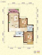 恒大御景半岛2室2厅1卫86平方米户型图