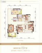 海逸星宸3室2厅2卫85平方米户型图