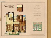 中梁・申州壹号院3室2厅2卫120平方米户型图