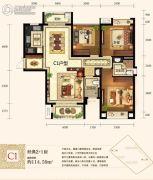 城中半岛2室2厅2卫114平方米户型图