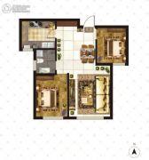 大成门2室2厅2卫89平方米户型图