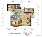 中拓世纪天骄2室2厅2卫97平方米户型图