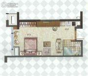 中融中央公馆1室1厅1卫36--40平方米户型图