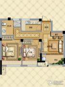 璞缇学苑2室1厅1卫69平方米户型图