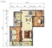 建投・洱海寰球时代2室2厅2卫123平方米户型图