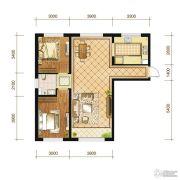 苏宁绿谷庄园2室2厅1卫93--95平方米户型图