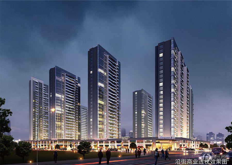 温州滨江广场沿街商业透视图