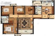 长申玉4室2厅2卫155平方米户型图