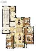 国赫天著小区3室2厅2卫151平方米户型图