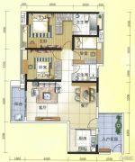 元邦明月水岸3室2厅2卫127平方米户型图