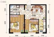 哥本哈根2室2厅1卫69平方米户型图