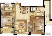 融创常州御园2室2厅1卫89平方米户型图