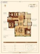 金地悦峰4室2厅3卫190平方米户型图
