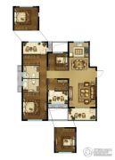 中建・锦绣珑湾 高层2室2厅2卫123平方米户型图