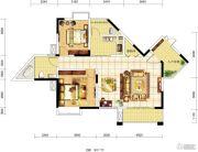 琥珀・东岸2室2厅1卫0平方米户型图