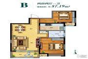 东润朗郡2室2厅1卫87平方米户型图